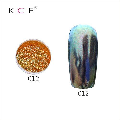 topbeauty Nail Art Paillettes Brillant miroir chrome Pigment poudre Nail Art Outils avec éponge en 12