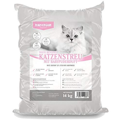Rinderohr® Katzenstreu mit Babypuderduft 14kg