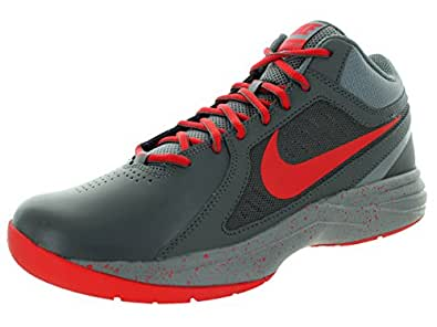 Nike Men's Overplay VII Basketball Shoe Dark Grey/Unvrsty Red/Cl Gry 8.5 D(M) US