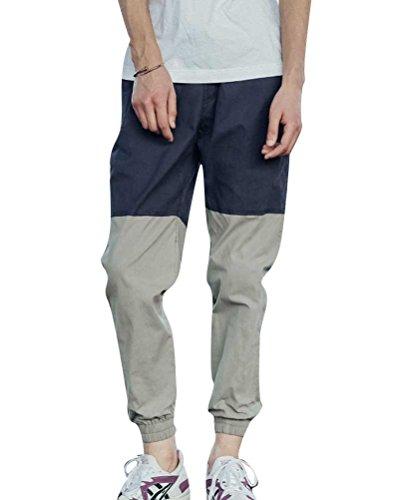 Dianshao pantaloni da jogging da uomo sportivi casual danza pantaloni in esecuzione marina militare 40