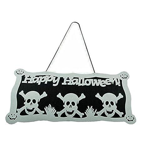 Halloween Déco, FEITONG Squelette Imprimer Accessoires porte fenêtre Décorations Citrouille