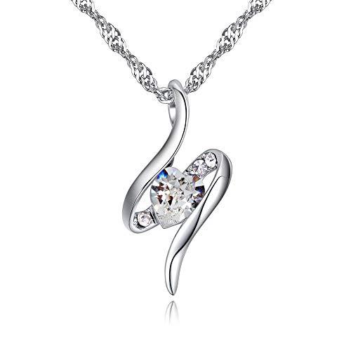 SXYQPD Simple Crystal Geometry Anhänger Persönlichkeit Wild Clavicle Chain @Weiß Weibliche Halskette Damenschmuck 1226 Crystal