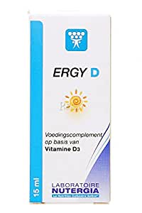 NUTERGIA ERGY D à base de Vitamine D3 - 15ml