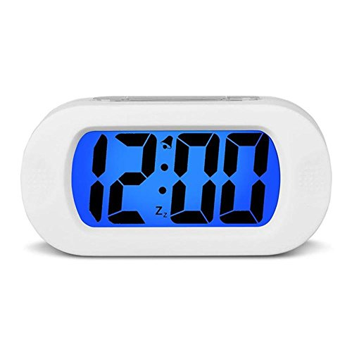 HENSE Reloj despertador LCD con sensor