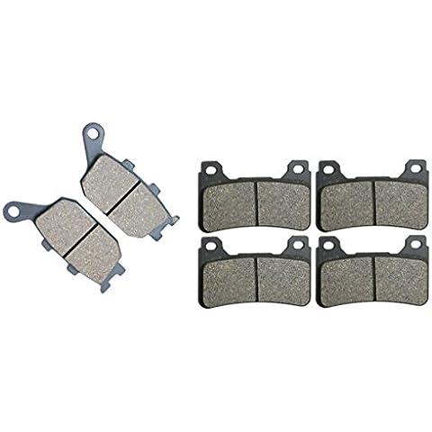Semi Metalico Pads De Zapatas De Frenos for HONDA Street Bike CBR600 CBR600RR CBR 600 cc 600cc RR Radial caliper 05 06 2005 2006 6 Pads