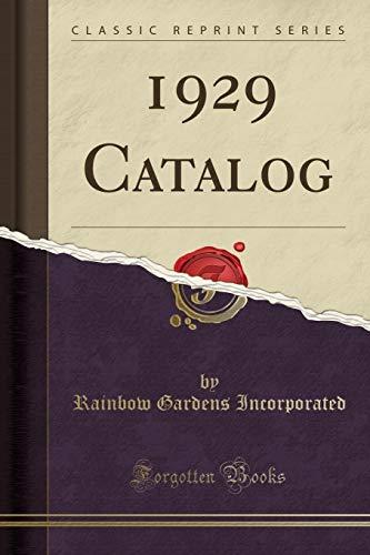1929 Catalog (Classic Reprint)