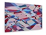 Bild Einer Frau III - 30x20 cm - Textil-Leinwandbild auf Keilrahmen - Wand-Bild - Kunst, Gemälde, Foto, Bild auf Leinwand - Kunst