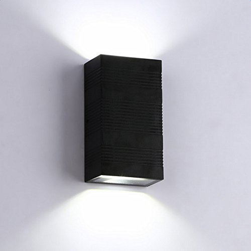 Lightess Modern LED Wall Light 6W Up Down Outdoor Wall Lights ...