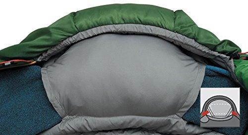 ALEXIKA Schlafsack Aleut, rechte Reißverschluss, grün-grau / grau, 95(Breite oben)x230(Länge) x65(Breite unten), 9232.0107R - 5