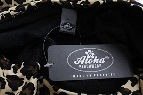 Aloha-Beachwear Damen Vintage flower Bügel-Bikini A1401 Leo Geblümt Polka Dots Leopard