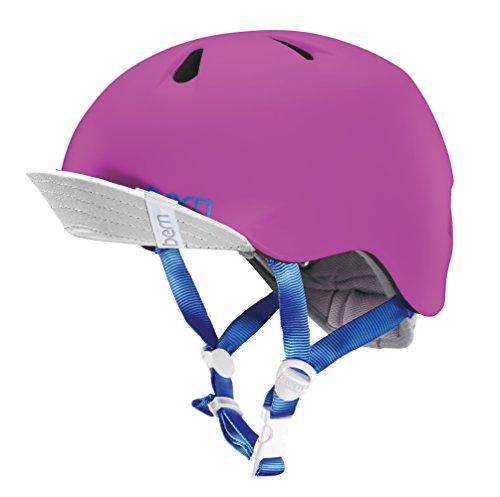 Snowboard Mädchen Helm Für (Bern Mädchen Helm Nina Zipmold, satin pink, XS/S, VJGSPNKVXSS)