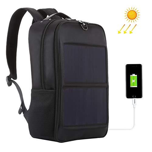 JBAG-one 14W Solar Panel Power Rucksack Laptoptasche mit Griff und 5V / 2.1A Max Dual USB Ladeanschluss, Leichter Outdoor Rucksack Laptop Dual Tasche
