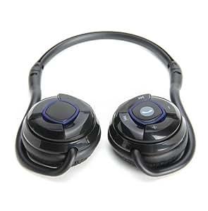 GMYLE(R) Noir légers bluetooth arrière-tête pliable mains libres casque casque stéréo sans fil avec CVC, l'annulation de bruit pour iPhone, Samsung, HTC, etc