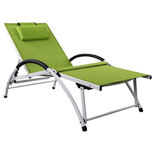 ASS Gartenliege Sonnenliege Fitnessliege Stabile Aluminium Konstruktion mit Atmungsaktiven...