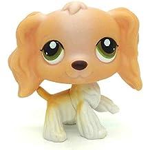 Mamum Rare Littlest Pet Shop Cream Tan Brown Pelo Corto Gato Corazón Cara Gato (Marrón