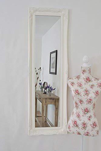 Frames by Post Schminkspiegel, weiß Swept Shabby Chic Stil Lang & Full Länge-Verschiedene Größen erhältlich (Wate Spiegel Glas, 18x 54) von Mirroroutlet