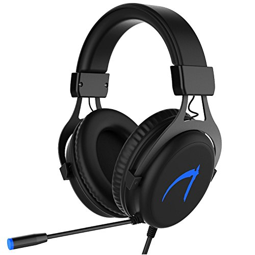 Gaming Headset,MUTOUREN 7,1 Surround Sound Gaming Kopfhörer USB PC Gaming Stereo Helm mit LED-Licht & Mikrofon 7,1 Gaming Headphones (mit 7,1 CD-Laufwerk) Schwarz