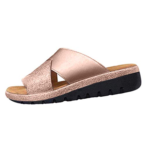 b484e7cdbe986 Riou Sandales Plates Femmes-2019 New Women Sandal Shoes Comfy Platform  Sandal Shoes Summer Beach