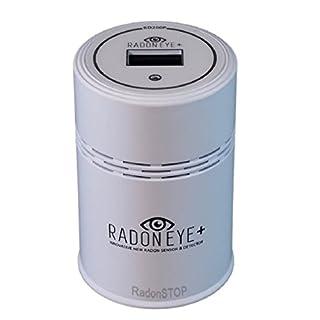 Radon Stop® Radoneye Plus Der intelligente Radondetektor | Wi-Fi | Handy App Radon Cloud Radon Werte Immer mit Cloud lesen Breiter Messbereich bis 9500 BQ / M3 mit Messspitzen und Anleitungen