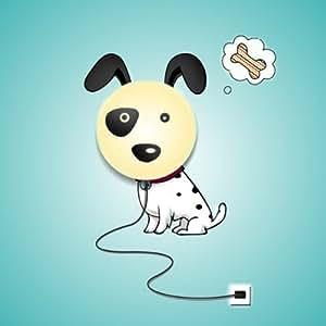 Hipkid lampada per la cameretta con stampa da parete motivo cagnolino giochi e - Lampada per cameretta ...