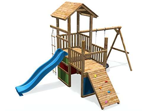 SCHEFFER OUTDOOR TOYS Spielturm MAX & MORITZ 9 + Rutsche