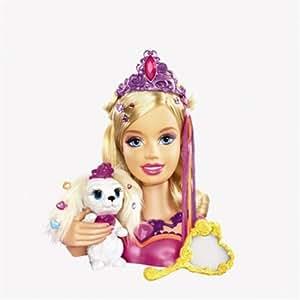 Mattel - N2693 - Barbie - Accessoires Poupée - Tête A Coiffer Liana Et Son Chiot