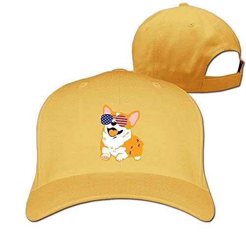 Wfispiy Baseballmützen Amerikanische Sonnenbrille Papa Hut Erwachsene Vintage Snapbacks Cap RF6565
