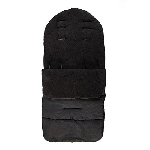 Covermason Chancelière universelle pour poussette, confortable, chaude, couvre-jambe pour l'hiver, coupe-vent, sac de couchage, housse de siège en coton pour poussette de bébé (Noir)