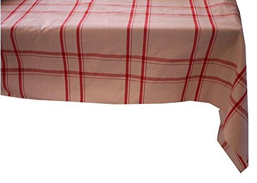 Linder à Carreaux Polyester Rouge 200 x 145 cm