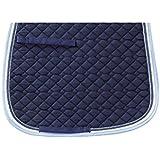 Usg acolchado para montar tapetes con cuerda doble piping,full,navy/ ecru with border,navy/azul/azul marino