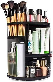 360 Rotating Makeup Organizer, DIY Adjustable Makeup Carousel Spinning Holder Storage Rack, Large Capacity Make up Caddy She