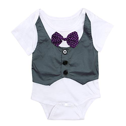Knowin-baby body Sommer Kinder Kurzarm Overall Weste Gentleman Kleidung Elegant Party Wedding Rezeption Baby Boy Kid Girl Overall Jacke Gentry Strampler Outfits Kleidung