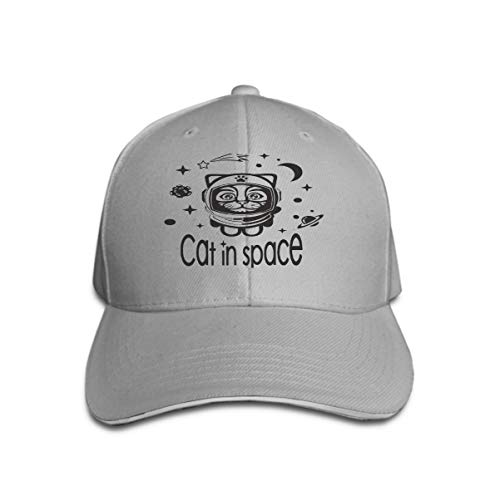 Vintage Trend Printing Cowboy Hat Fashion Baseball Cap for Men and Women cat Space Picture Shows Cute Suit Astronaut Flying Outer (Space Cowboys Kostüm)