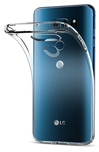 LG V30 / LG V30 Plus / LG V30S ThinQ Hülle, Spigen® [Liquid Crystal] Soft Flex Silikon [Crystal Clear] Transparent Maßgeschneidert Passgenau Dünn BumperStyle Handyhülle Premium Kratzfest TPU Durchsichtige Schutzhülle für LG V30 / V30 Plus / V30S ThinQ Case Cover - Crystal Clear (A25CS21981) (Handy Hülle Für Ein Lg)