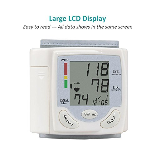 Wrist Blood anxiety Monitor Fully Automatically calculate by using Digital LCD display present for Blood anxiety and Heart Beat Sports Outdoors