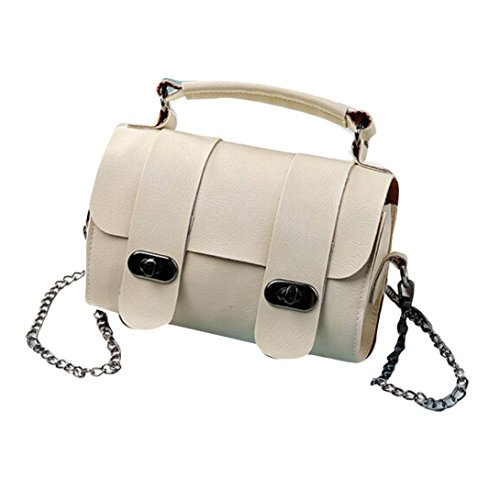 Transer Artificial Leather Handbags & Single Shoulder Bags Women Zipper Bag Girls Hand Bag, Borsa a spalla donna Multicolore Gold 20cm(L)*13(H)*8cm(W), Wine (Multicolore) - CQQ60901350 Beige