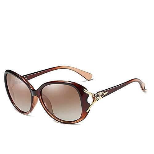 JU DA Sonnenbrillen Hd Sonnenbrille Polarisiert Retro Big Frame Luxus Brillen Lady Brand Designer Sonnenbrille Oculos De Sol C04 BROWN BROWN