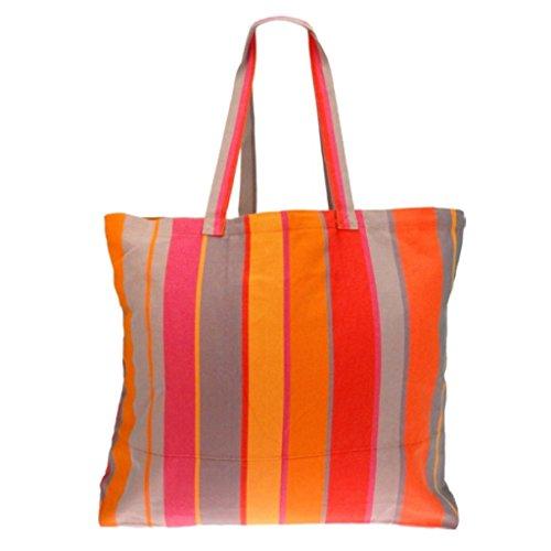 Textiles Fairtrade , Borsa da spiaggia  multicolore Greta Mandarina