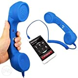 Azacus No Radiation Phone 3.5mm Jack Wired Retro Handset Receiver Compatible For All Smart Phones, Laptop, Pc, Ipad