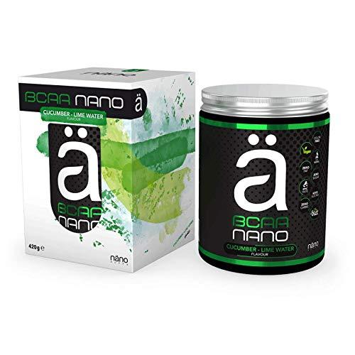 ä BCAA Nano 2:1:1 Aminosäuren Mit Elektrolyten Muskelaufbau Regeneration Muskelschutz Bodybuilding 420g (Cucumber Lime Water - Gruke Limette)