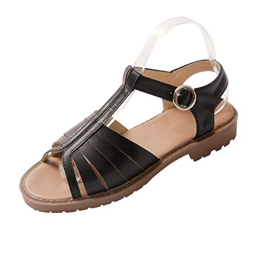 SSUPLYMY Damen Flatform Schuhe Sommer Keil Peeptoe Fesselriemen Schnalle Sandaletten Elegant Flatform Schuhe Sandalen Espadrilles Absatz Peeptoe Damen Sommer Flatforms Sandalen -