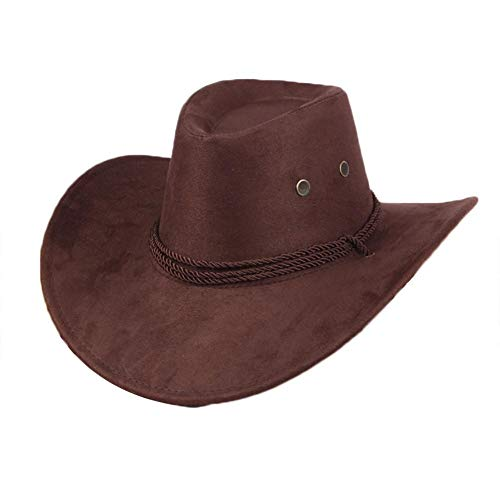Western Cowboyhut Bedruckt Kunstleder Drei-Linien-Seil Big Visor Outdoor Sonnenhüte Casual Travel Cap Für Männer Und Frauen Safari Panama