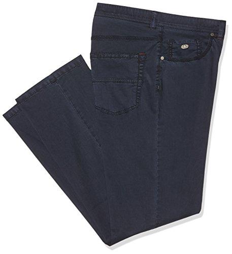 JP 1880 Herren große Größen bis Größe 66 | Hose aus Twill |Cargo Hose im aus Baumwoll-Jersey | elastischer Bund & 5 Taschen | Regular Fit | 708328 Blau (Dunkelblau 70)