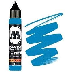Molotow mo693230Refill one4all, recarga para marcador permanente 30ml, 1pieza, schockblau