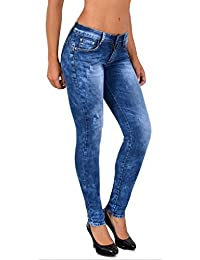 6afd877be4301 by-tex Jean Femme Skinny Jeans Femmes Taille Normale Push up Jean Pantalon  S900