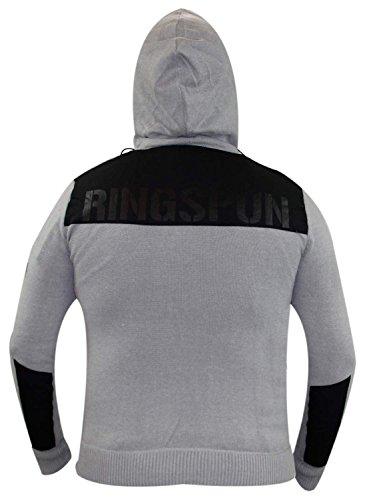 Uomini Ringspun istituzione Jumper grigio Grigio - Grey Marl