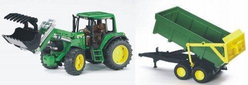 bruder-Traktor mit Schaufel und Trailer