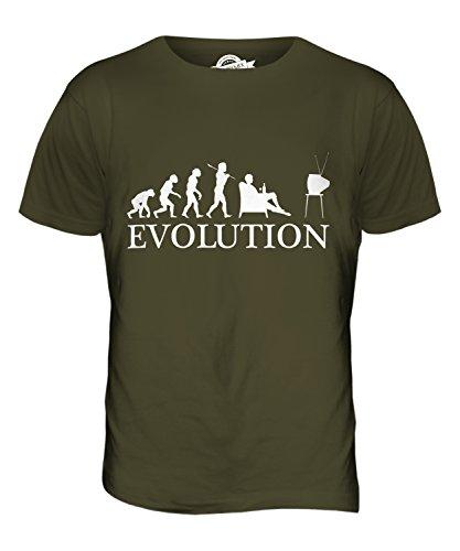 CandyMix Fernsehen Evolution Des Menschen Herren T Shirt Khaki Grün