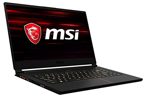 MSI GS65 8RE-020DE Stealth Thin (39,6 cm/15,6 Zoll/144Hz) Gaming-Notebook (Intel Core i7-8750H, 16GB RAM, 512GB PCIe SSD, Nvidia GeForce GTX 1060, Windows 10 Home) schwarz/gold
