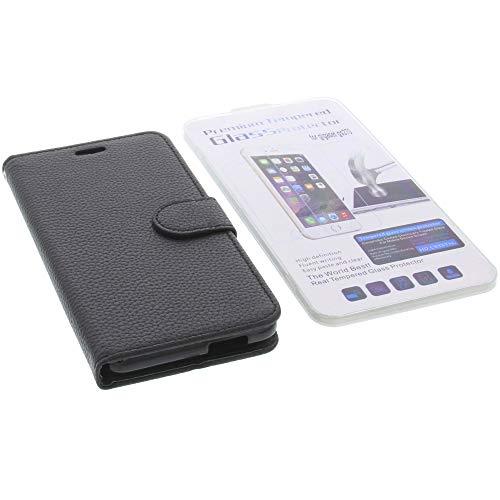 foto-kontor Tasche für Gigaset GS270 / GS270 Plus Book Style schwarz Schutz Hülle Buch + Schutzglas